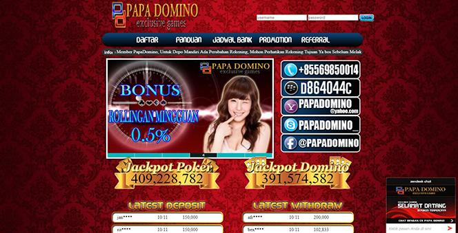 858Poker Papa Domino Agen Poker Uang Asli Terpercaya