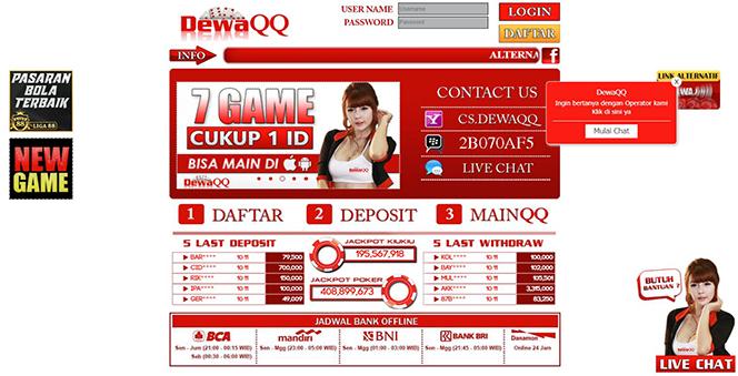 DEWAQQ | DOMINO99 ONLINE | BANDAR POKER ONLINE | ADU Q TERPERCAYA