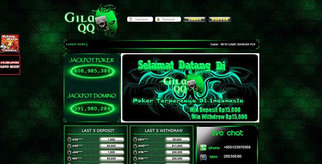 GILAQQ | BANDAR JUDI POKER ONLINE TERBAIK DI INDONESIA