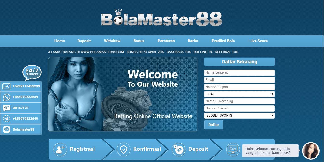 BOLAMASTER88 AGEN JUDI BOLA SBOBET CASINO MAXBET