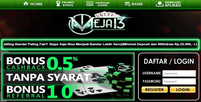 MEJA13 | AGEN CAPSA POKER DAN DOMINO99 ONLINE TERPERCAYA