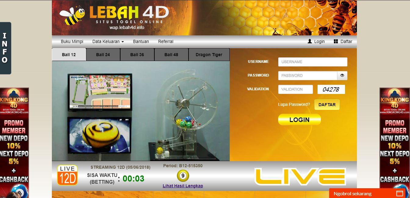 LEBAH4D AGEN TOGEL ONLINE